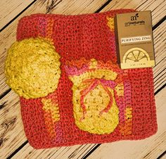 Pamper yourself or a great gift item Hand crocheted bright yellow colored spabath set As an added bonus ArtNaturals Purifying Zing hydrating cleansing bar is included >>> More info could be found at the image url.Note:It is affiliate link to Amazon.