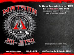 Try watson brazilian Jiu-Jitsu for FREE!!! Come enjoy 2 free weeks and let us show you how to defend yourself while getting fit and having fun >> Watson Brazilian Jiu-Jitsu --> www.watsonbjj.com