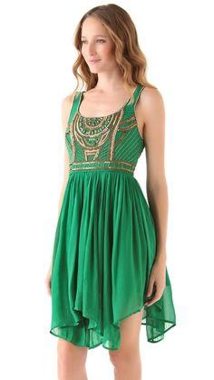 Emerald Beaded Dress