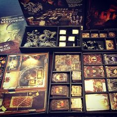 """""""More foamcore inserts. Mansions of Madness"""