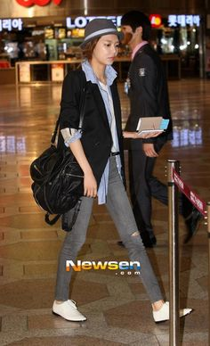 Sooyoung ; cool airport fashion