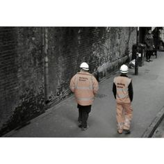 Workers on Seven Sisters Road..
