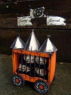 Halloween Folk Art by Melissa Valeriote