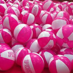 Victoria's Secret pink beach balls