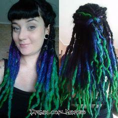 #dreads #dreadlocks #wool #roving #fairy #boho #hippie #ozora #tribal #rave #goth #mermaid