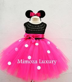 Vestido de minnie mouse mickey mouse cumpleaños por MimozaLuxury