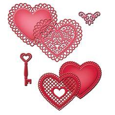 Spellbinders Die - Lace Hearts