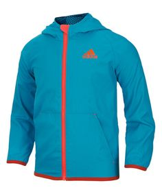 adidas Turquoise & Orange Track Jacket - Toddler & Boys | zulily