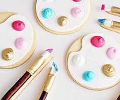 Sweet Art: Artist Palette & Paintbrush Cookies