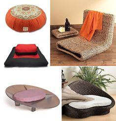 מוצרים משלימים לטאטמי- מושבים לישיבה נמוכה, כריות מדיטציה וספות ראטאן