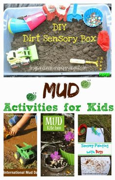 Mud Activities for Kids {A collection of mud play activities and alternatives to outside dirt for mud} - FSPDT