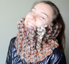 womens cowl cable chunky neck warmers scarf by LOVELYCHICKNITTING, $35.00