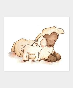 For Baby Chase. Take a look at this My Baby Lamb Print by LoxlyHollow on… Lamb Nursery, Nursery Art, Baby Lamb, Watercolor Art, Sheep, Art For Kids, Illustration Art, Art Illustrations, Art Drawings