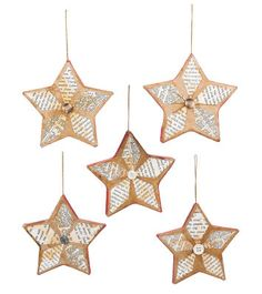 cute paper mache star instruments using book pages