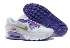 separation shoes a95d5 ded33 Cheap Summer Mens Nike Air Max 90 Premiun EM White Purple 553564 007 Sale  Best(Chalcedony Pendant and Neon Green Lace)