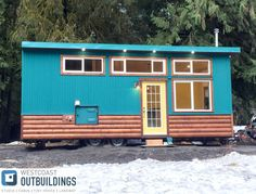 The Skookum II: a 385 sq ft park model home from Canadian builder, West Coast Outbuildings.