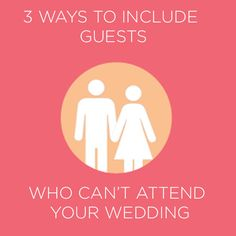 Amazing! Now I know how I can include guest who can't attend my wedding :).