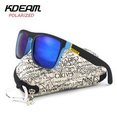 5015bfb02d KDEAM Fashion 2018 Summer New Polarized Sunglasses Men Metal Hinges HD  Polaroid lens Square Sun Glasses With Original case KD156