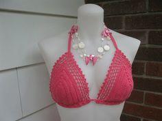 Haut Fuschia Crochet Bikini Set by Shorah on Etsy, $125.00