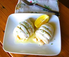 Delicate sole fillets filled with shrimp and bay scallops. Low carb and grain free. http://stalkerville.net/ #paleo