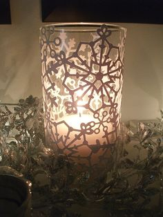 Snowflake Hurricane Candle Holder - Bing Images