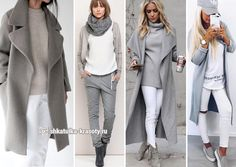 Grey and white Casual Winter Outfits, Winter Fashion Outfits, Look Fashion, Autumn Fashion, Womens Fashion, Leggings Outfit Fall, Legging Outfits, Komplette Outfits, Classy Outfits
