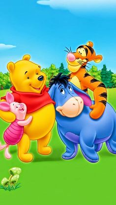 Winnie-the-Pooh - Piglet -Tigger & Eeyore Disney Winnie The Pooh, Winne The Pooh, Winnie The Pooh Friends, Mickey And Friends, Eeyore Pictures, Winnie The Pooh Pictures, Winnie The Pooh Quotes, Cartoon Cartoon, Cartoon Wallpaper