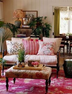 So pretty! French country interiors, fabrics French
