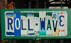 ROLL WAVE / Tulane University - custom license plate sign/alumni/tailgate/graduation gift