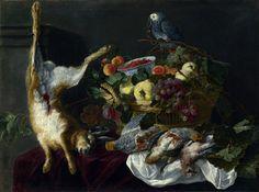 Ян Фейт - Натюрморт с фруктами, битой дичью и попугаем. Часть 4 Национальная галерея