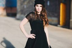 Milly Dress (black dress with shear detail)