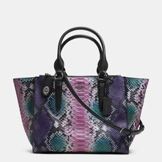Coach - CROSBY CARRYALL IN PYTHON EMBOSSED LEATHER