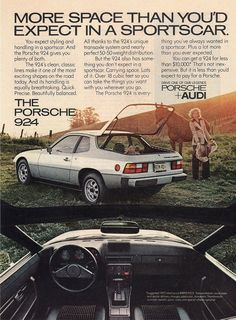 Original Print Ad 1977 Porsche 924 More Space | eBay