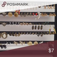 NEW/SALE! 1 for $7, 2 for $10, 3 for $12 Earrings! All of the earrings here are brand new and on sale!  Choose from bows, cameras, owls, parrots, foxes, masks, cut kittys, masks, and many more. If you'd like more than 3, I can try and make a better price for you. Just let me know which ones you'd like in the comments, I can create a listing for you if necessary. Ear cuffs are individual items, and do not come in a pair. Listing will be updated periodically!  Let me know if you have any…