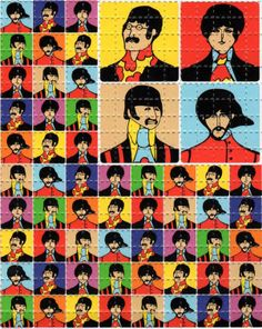 My mom said to stay away from these things but they were out there....Beatles-Yellow Submarine LSD stamps.