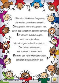 wasserspiel garten Fingerspiel Reim Gedicht Kindergarten Erzieherin K., wasserspiel garten Fingerspiel Reim Gedicht Kindergarten Erzieherin K. Kindergarten Songs, Portfolio Kindergarten, Finger Plays, Social Trends, Learn German, Blog Love, German Language, Kids Education, Kids And Parenting