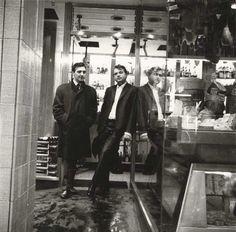 George Dyer and Francis Bacon in Soho, London, John Deakin, 1960s