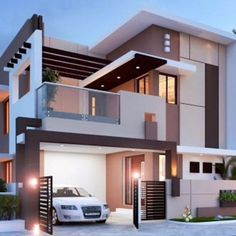 stunning modern home design exterior in 2020 39 Bungalow House Design, House Front Design, Tiny House Design, Cool House Designs, Kerala House Design, Bungalow Homes, Modern Tiny House, Modern House Plans, Best Modern House Design