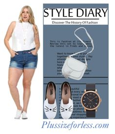 """""""Plussizeforless 8/10"""" by amilasahbazovic ❤ liked on Polyvore featuring Karl Lagerfeld and Marc Jacobs"""