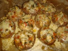 Baked Potato, Shrimp, Pizza, Potatoes, Meat, Baking, Ethnic Recipes, Bun Bun, One Pot Dinners