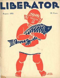 The Liberator, August 1921. Cover illustration by Hugo Gellert.