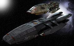 Galactica and Pegasus by Balsavor.deviantart.com on @deviantART From the 2004 - 2009 Battlestar Galactica series.