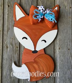 Fox wooden door hang hanger hanging Door Doodles wood wooden custom hand painted by DoorDoodlesDecor on Etsy https://www.etsy.com/listing/269207078/fox-wooden-door-hang-hanger-hanging-door