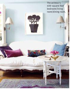 Rashida Jones' petite studio apartment photographed by Paul Costello for Domino, February 2008.