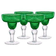 Artland Inc. Iris Margarita Glasses - Set of 4 Green - 50309B