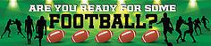 """Reminisce ARE YOU READY FOR SOME FOOTBALL? 2"""" x 10"""" TITLE STICKER scrapbooking"""