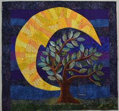"Cindy O'Neal's  ""lunar illumination"".  Yellow and violet."