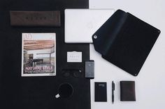"""Black and white  - by @raditradihan - Sleeve for 15"""" Macbook Pro available on mujjo.com or through resellers worldwide. #mujjo"""