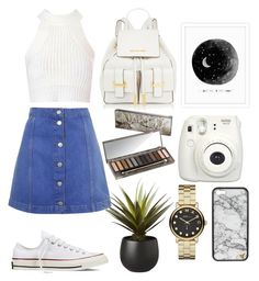 """Casual Shopping Day"" by mode-de-moi ❤ liked on Polyvore featuring Topshop, Glamorous, Converse, Urban Decay, CB2 and Marc by Marc Jacobs"
