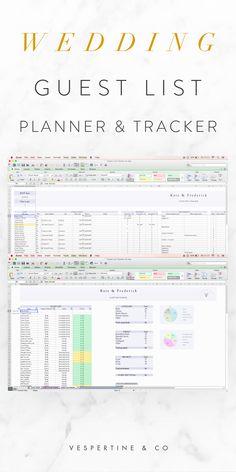 Wedding Guest List Template Excel  Wedding Guest List Template